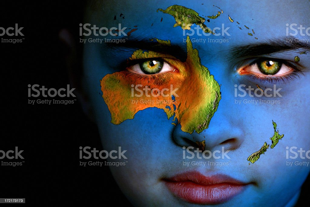 Earth boy - South Pacific stock photo