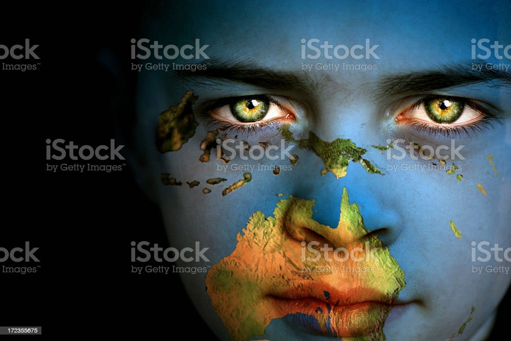 Earth boy - South Pacific royalty-free stock photo