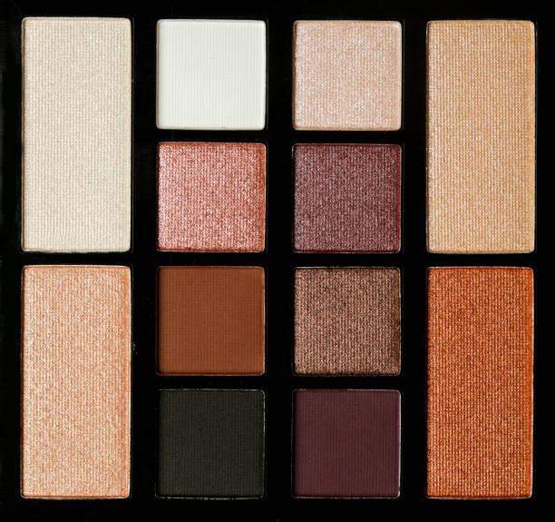 Erdbraun-Töne eyeshadow Palette, Top-Ansicht – Foto