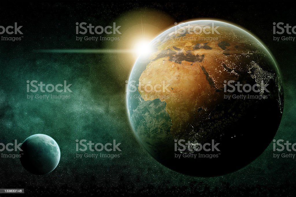 Earth by night royalty-free stock photo