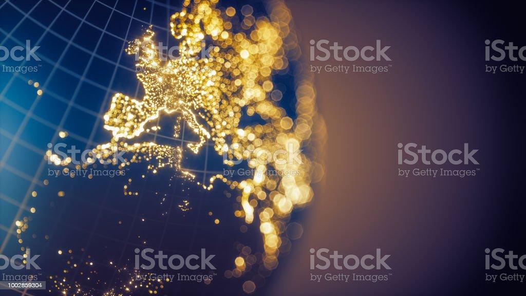 Earth City Lights Bokeh - Europe royalty-free stock photo