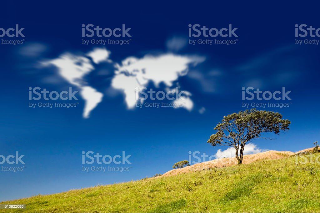 Earth Clouds stock photo
