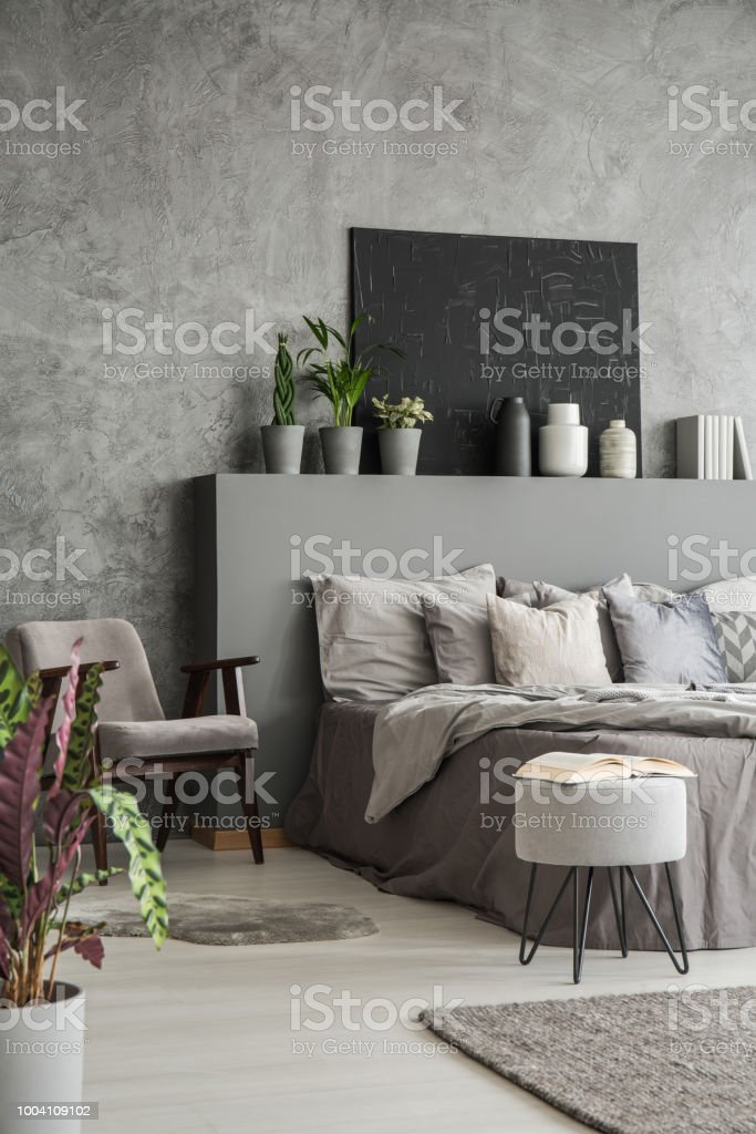 Marvelous Earth Colors Bedroom Interior With A Big Bed An Armchair A Pabps2019 Chair Design Images Pabps2019Com