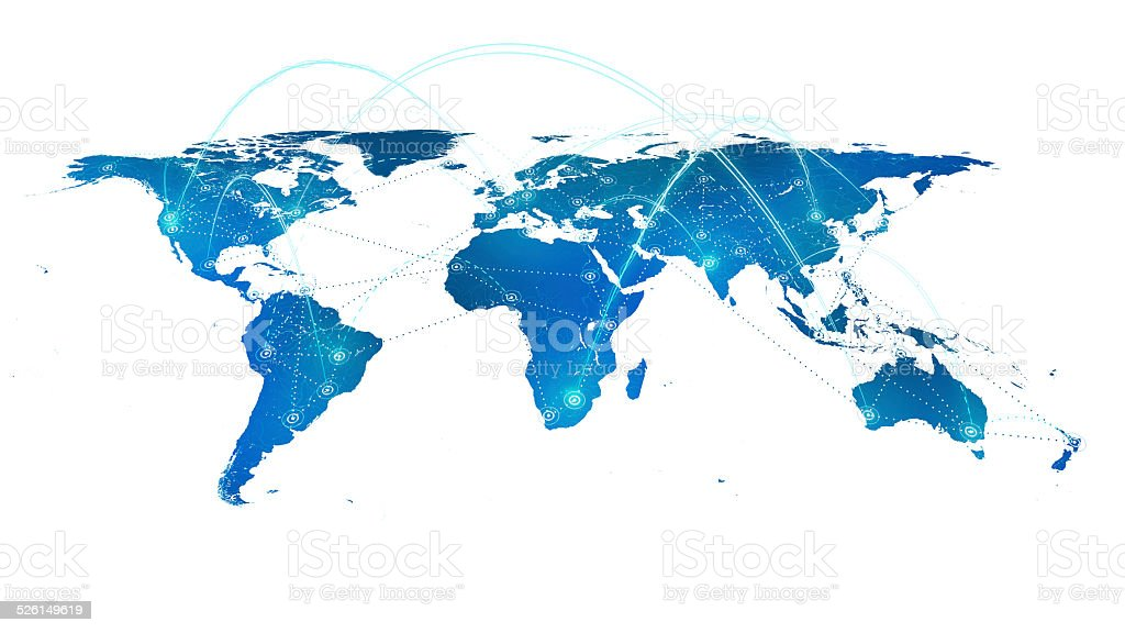 Earth Connections on white stock photo