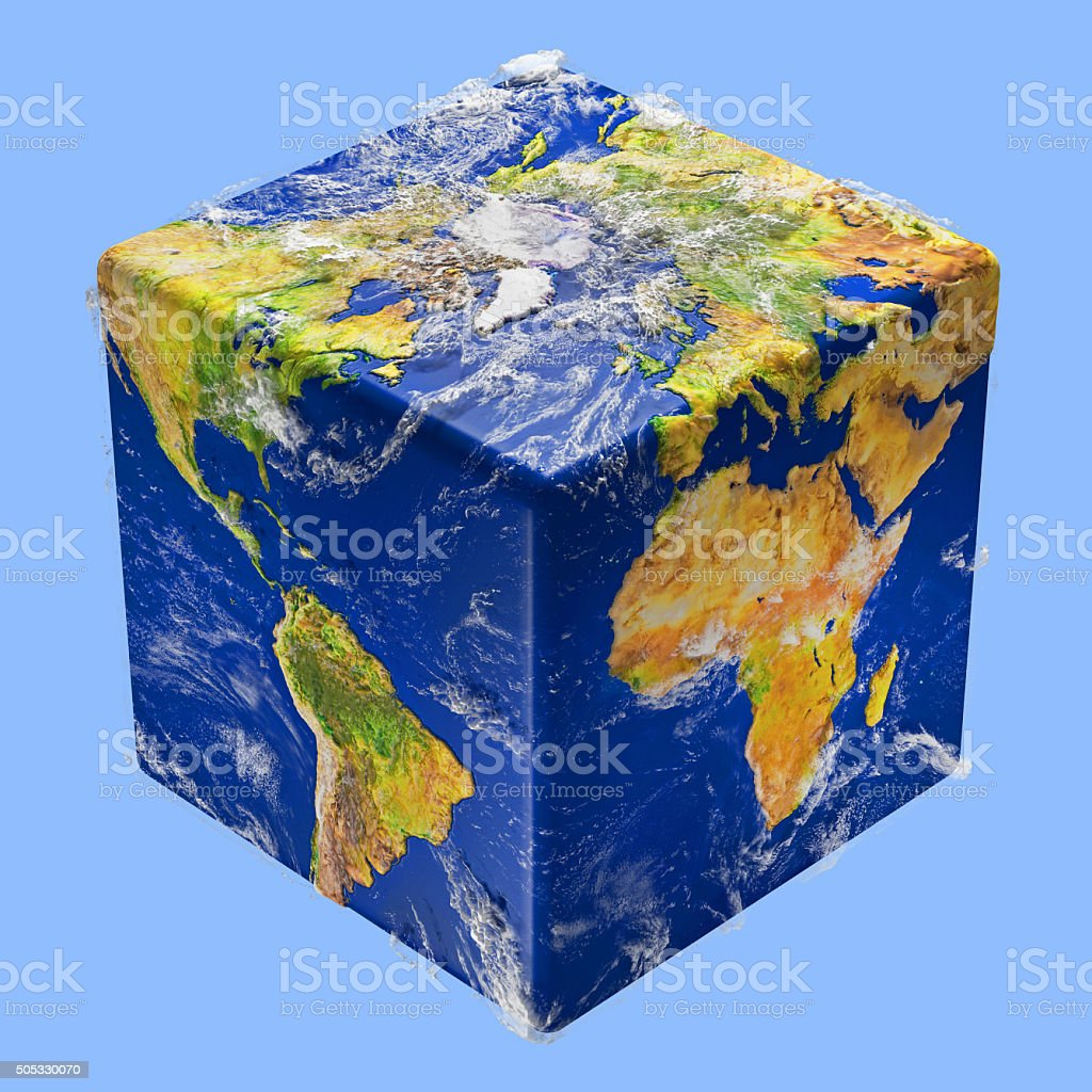 Earth cube box stock photo more pictures of africa istock box container cube shape globe navigational equipment map planet space sciox Gallery