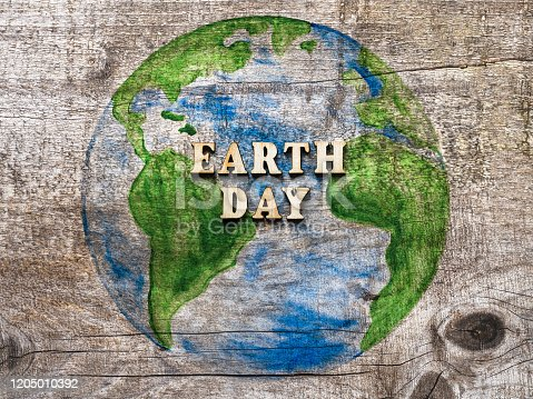 istock Earth Day. Beautiful greeting card. Top view 1205010392