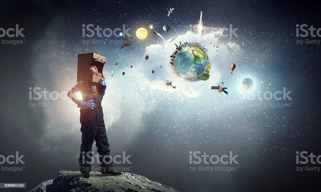 Earth day concept . Mixed media stock photo