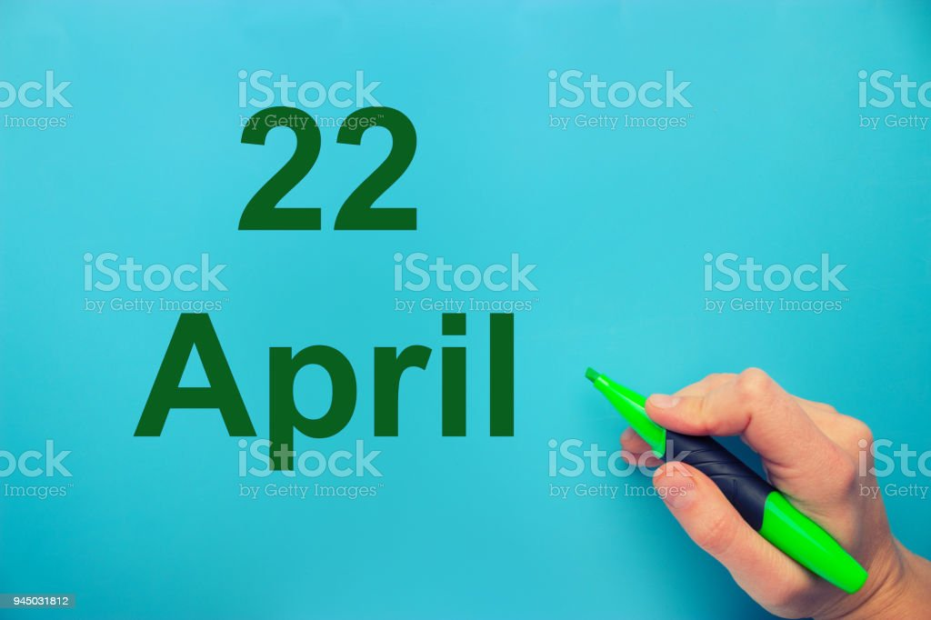 earth day concept stock photo