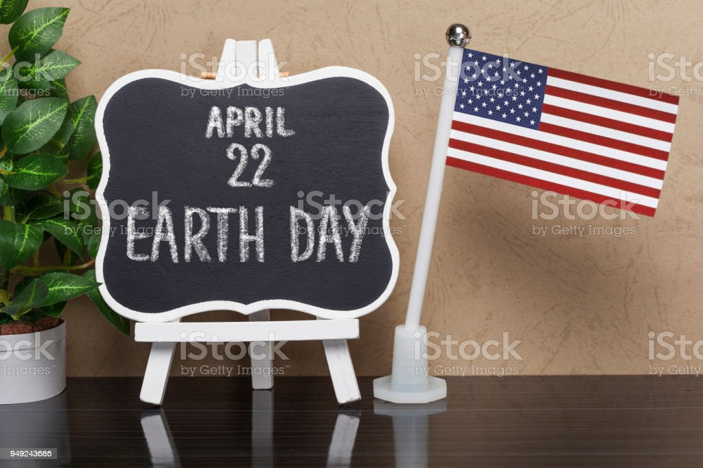 Earth Day,Holiday in USA stock photo