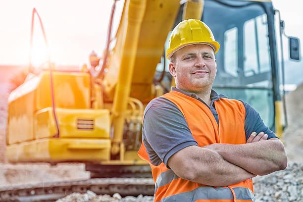 Earth Digger Driver stock photo