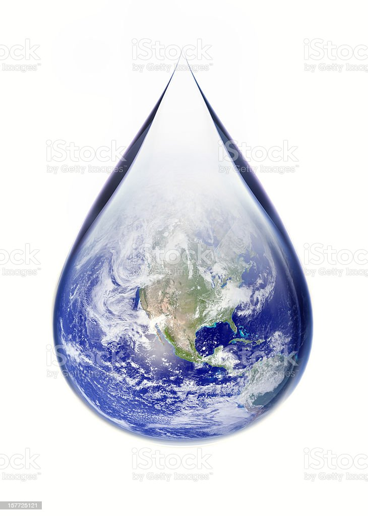Earth Droplet stock photo