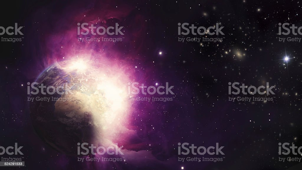 earth explosion stock photo