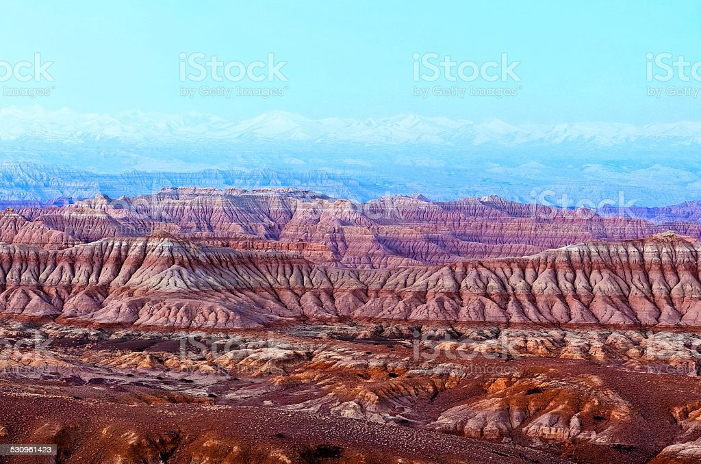 Earth Forest National Geopark in Tibet stock photo