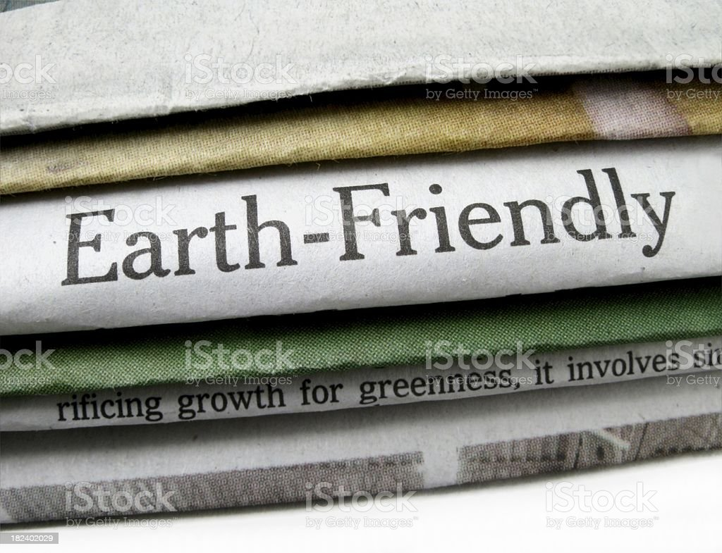 Earth Friendly stock photo