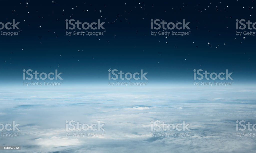 Earth from above stock photo