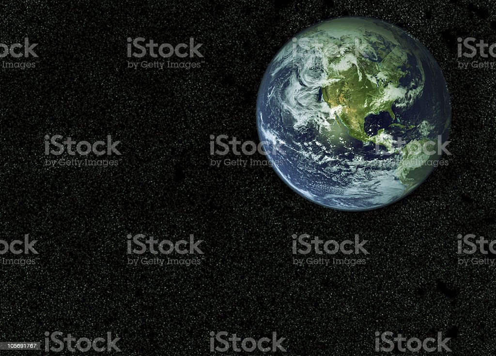 Earth From Space stock photo