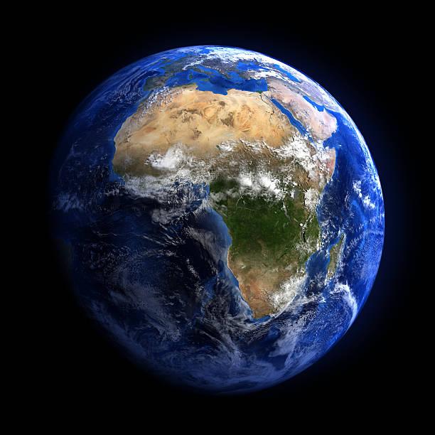Die erde vom weltraum mit Afrika. – Foto