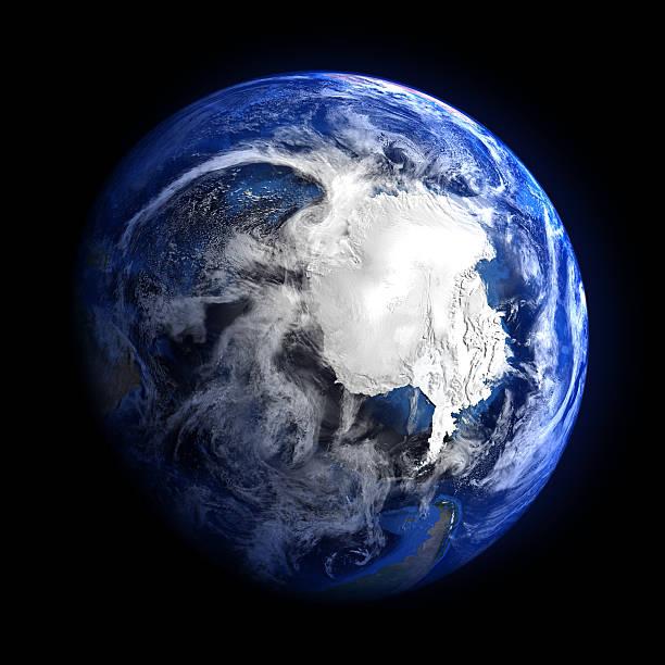Die erde vom weltraum, die Antarktis. – Foto