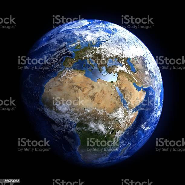 Die Erde Vom Weltraum Mit Europa Und Afrika Stockfoto und mehr Bilder von Planet Erde