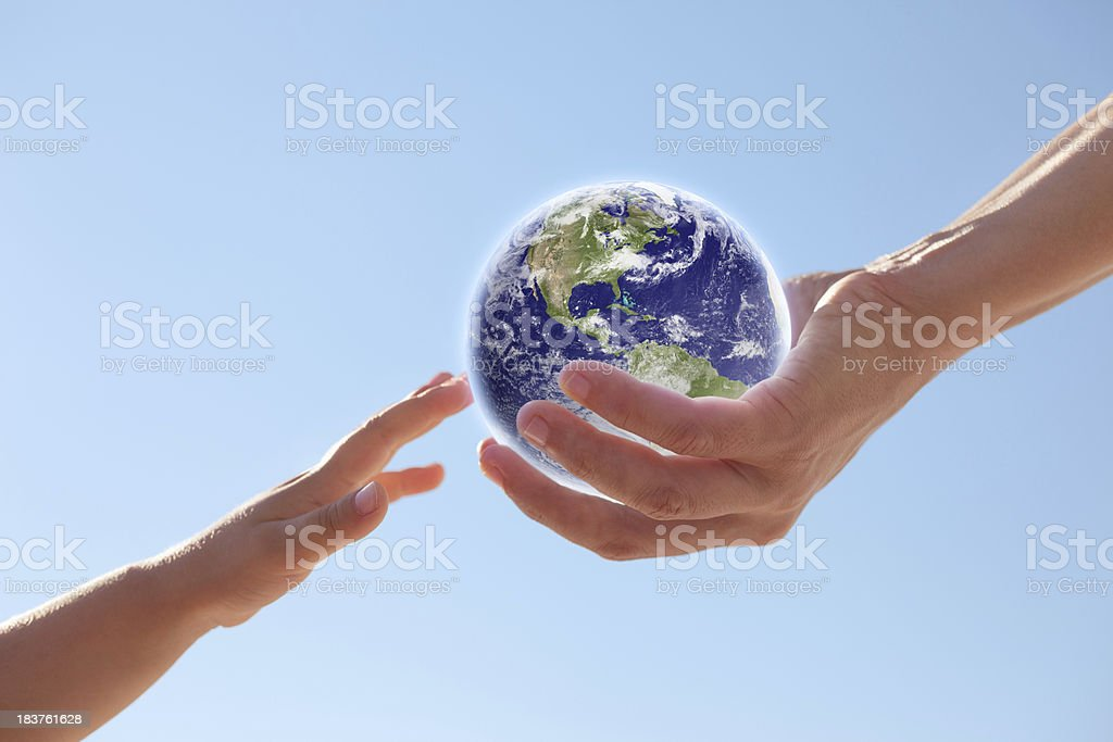 Earth future -Americas- stock photo