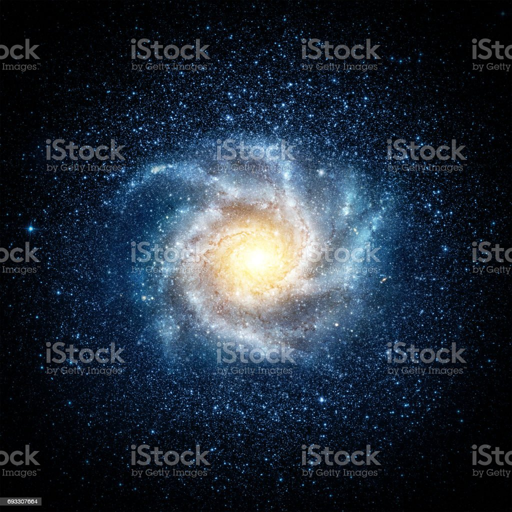 Earth, galaxy and sun. stock photo
