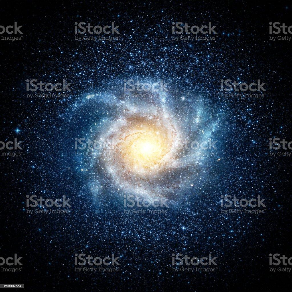 Earth, galaxy and sun. stock photo