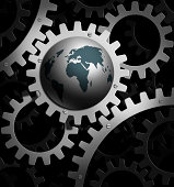 the earth  into a gear mechanism
