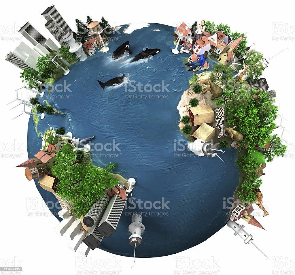 "Earth ""Global Village"" stock photo"