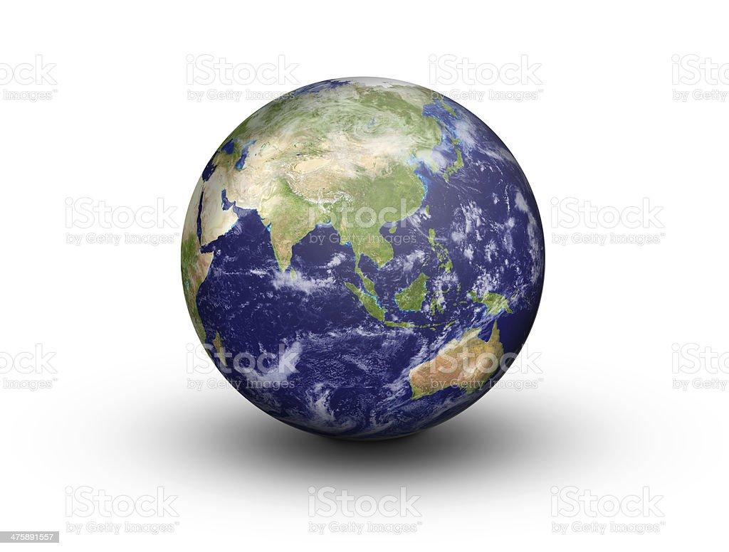 Earth Globe - Asia and Australia stock photo