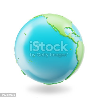 1056103150istockphoto Earth globe isolated on white background. Globe planet Earth icon, 3D Rendring 962319336