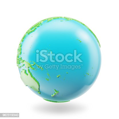 817002182 istock photo Earth globe isolated on white background. Globe planet Earth icon, 3D Rendring 962319340