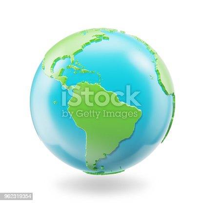 817002182 istock photo Earth globe isolated on white background. Globe planet Earth icon, 3D Rendring 962319354