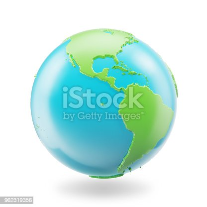 817002182 istock photo Earth globe isolated on white background. Globe planet Earth icon, 3D Rendring 962319356