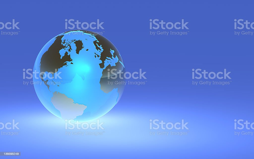 Earth Globe - Left Orientation royalty-free stock photo