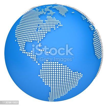 817002182 istock photo Earth globe model. 3d illustration 1130961853