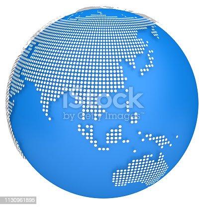 817002182 istock photo Earth globe model. 3d illustration 1130961895