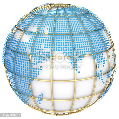 817002182 istock photo Earth globe model. 3d illustration 1147580207