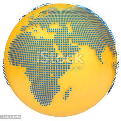817002182 istock photo Earth globe model. 3d illustration 1147580258