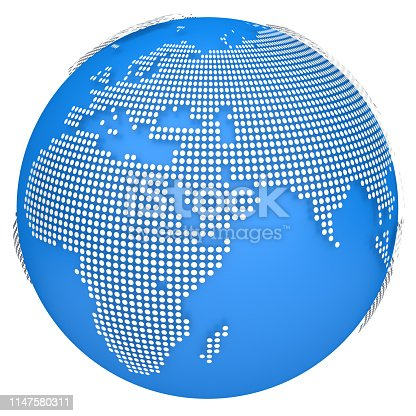 817002182 istock photo Earth globe model. 3d illustration 1147580311
