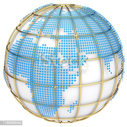 817002182 istock photo Earth globe model. 3d illustration 1163558440