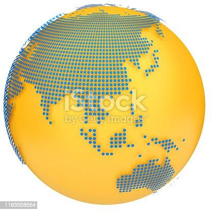 817002182 istock photo Earth globe model. 3d illustration 1163558554