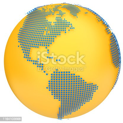 817002182 istock photo Earth globe model. 3d illustration 1164103568