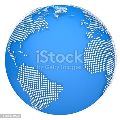 817002182 istock photo Earth globe model. 3d illustration 1164103573