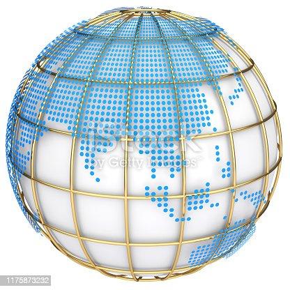 817002182 istock photo Earth globe model. 3d illustration 1175873232