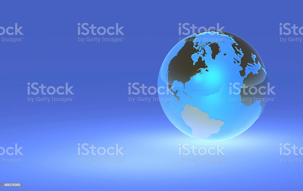 Earth Globe - Right Orientation royalty-free stock photo