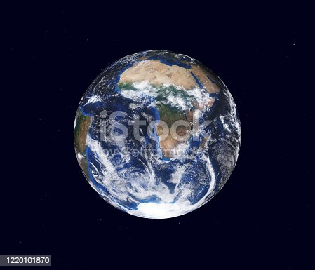 1008093204 istock photo Earth globe, view of the continent of Africa. Map furnished by NASA. 3d illustration 1220101870