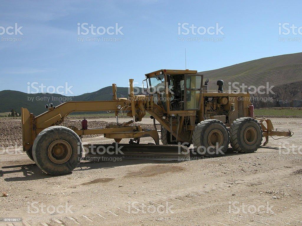 Earth Grader stock photo