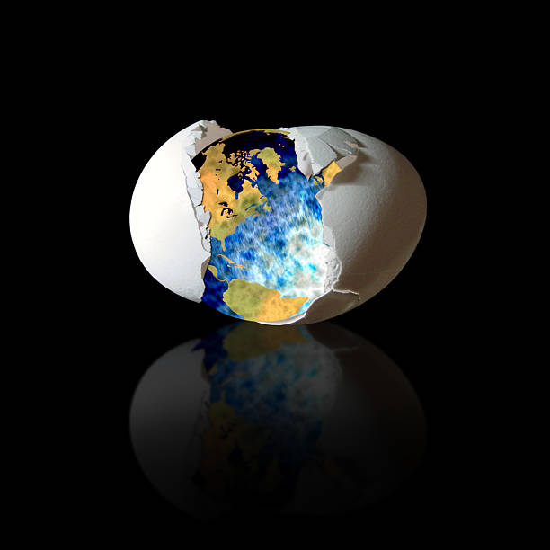 Earth hatches stock photo