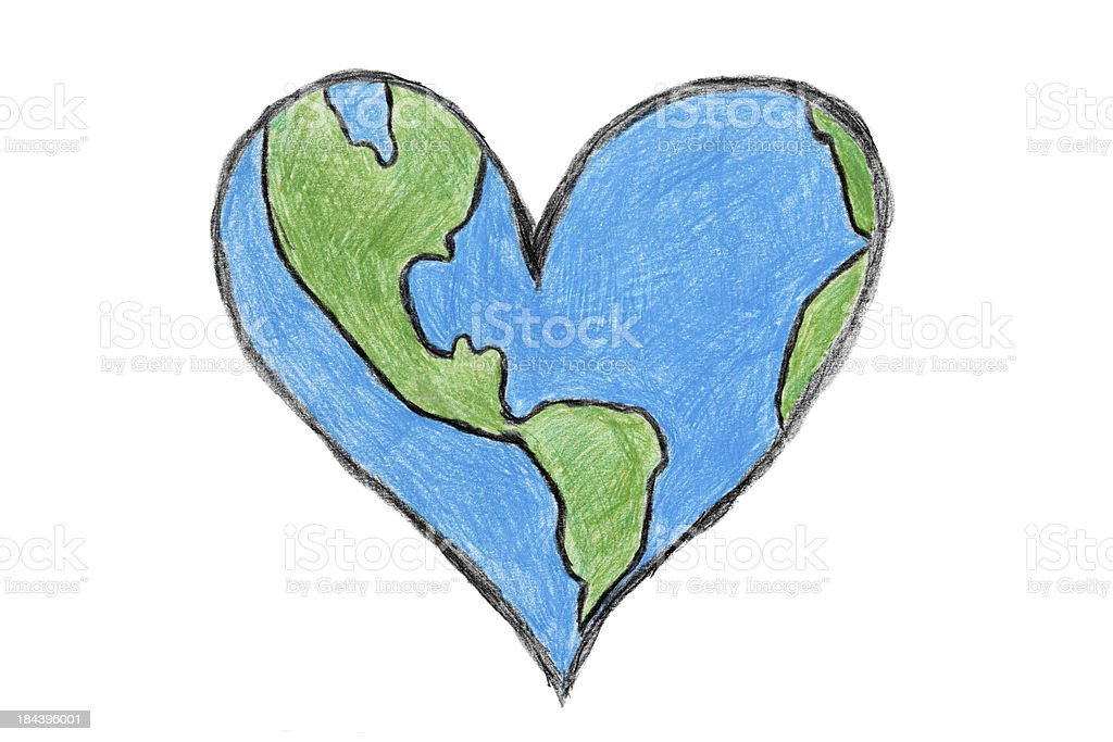 Earth Heart royalty-free stock photo