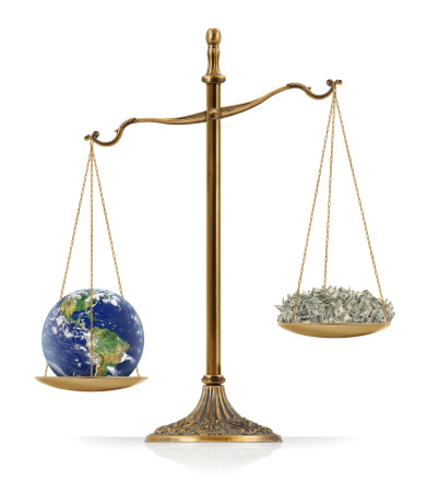 Earth Heavier Than Money Stock Photo - Download Image Now